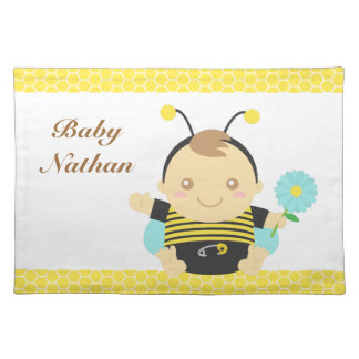 Cute Bumble Bee Baby Boy, For Toddlers Place Mats