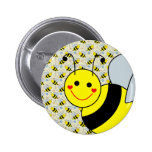 Cute Bumble Bee Button