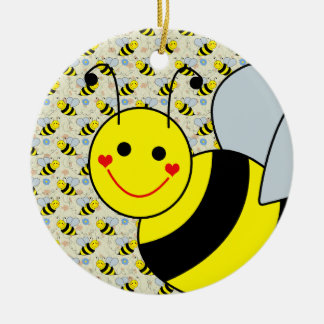 Cute Bumble Bee Christmas Ornament