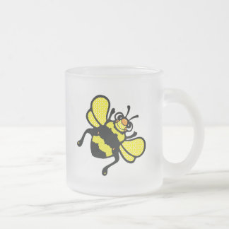 cute bumble bee frosted glass mug