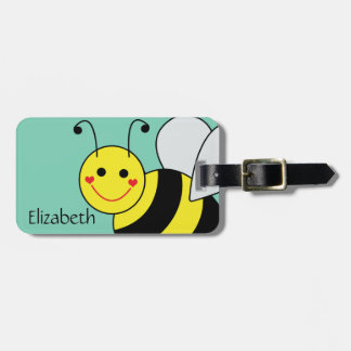 Cute Bumble Bee Name and Address Luggage Tag
