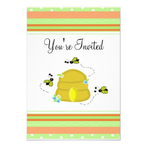 Cute Bumble Bee Party Invitation