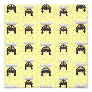 Cute Bumble Bee Pattern Photo Print