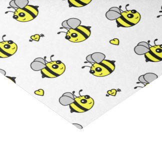 Cute Bumble Bee Pattern White Tissue Paper