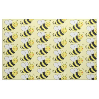 Cute Bumble Bee Pattern Fabric