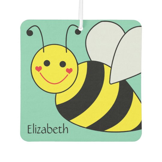 Cute Bumble Bee Personalised Car Air Freshener