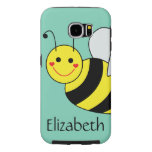 Cute Bumble Bee Personalised Samsung Galaxy S6 Cases