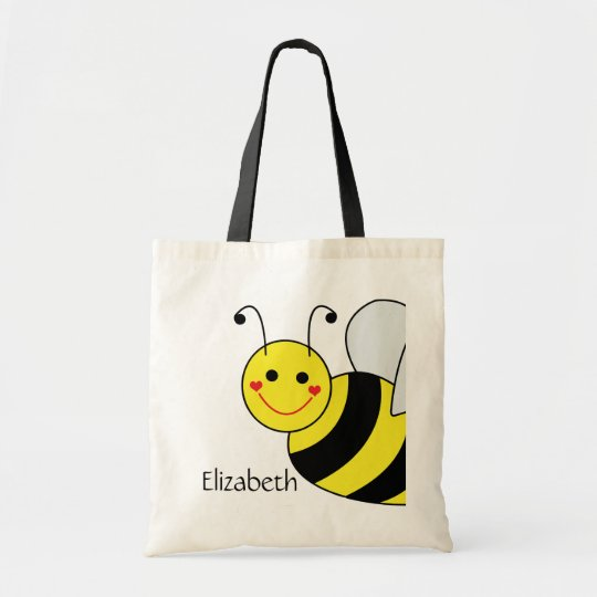 Cute Bumble Bee Personalised Tote Bag