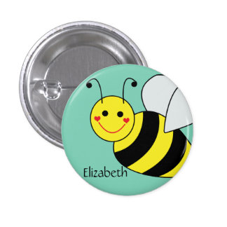 Cute Bumble Bee Personalized 3 Cm Round Badge