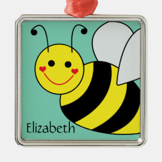 Cute Bumble Bee Personalized Christmas Ornament