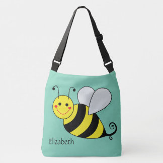 Cute Bumble Bee Personalized Crossbody Bag