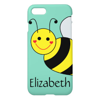 Cute Bumble Bee Personalized iPhone 7 Case