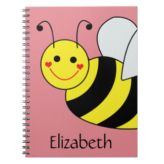 Cute Bumble Bee Personalized Notebook