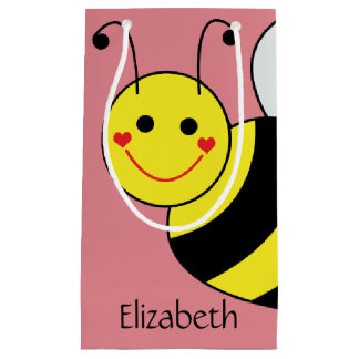 Cute Bumble Bee Personalized Small Gift Bag