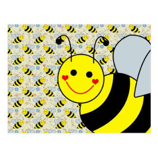 Cute Bumble Bee Postcard