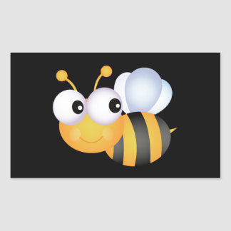 Cute Bumble Bee Rectangular Sticker