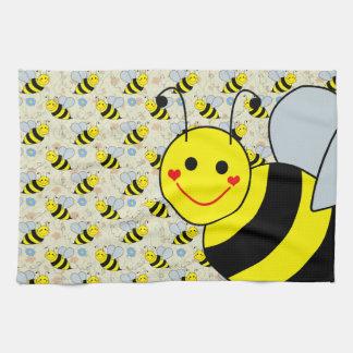Cute Bumble Bee Tea Towel