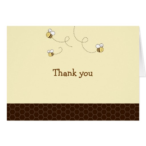 Cute Bumble Bee Thank You Note Cards