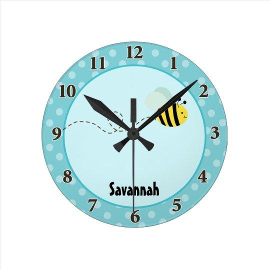 Cute Bumble Bee Wall Clock Add a Name