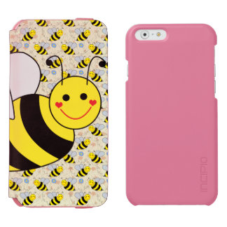 Cute Bumble Bee with Pattern Incipio Watson™ iPhone 6 Wallet Case