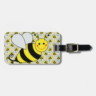 Cute Bumble Bee with Pattern Luggage Tag