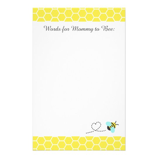Cute Bumble Bee, Words for Mummy to be
