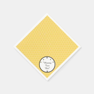 Cute Bumble Bees Honeycomb Pattern Napkins Paper Napkin