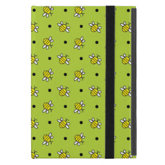Cute Bumble Bees on Lime Green iPad Mini Powiscase Cover For iPad Mini