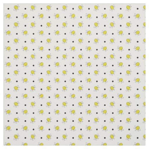 Cute Bumble Bees Pattern Fabric