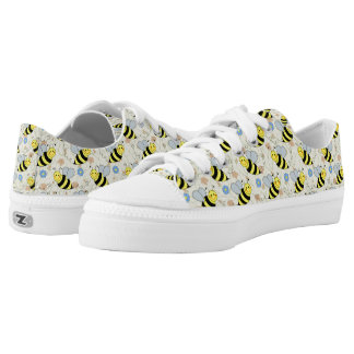 Cute Bumble Bees Pattern Low Tops