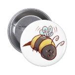 Cute Bumblebee 6 Cm Round Badge