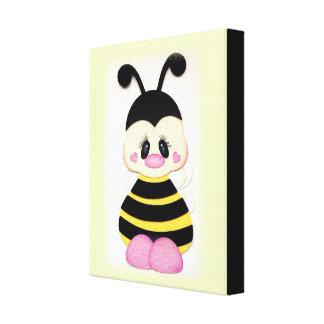 """""""Cute Bumblebee"""" CANVAS PRINT"""