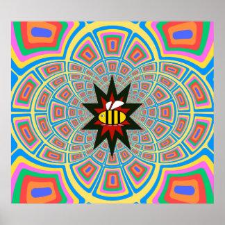 Cute bumblebee poster