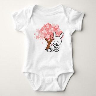 Cute Bunnies Baby Jersey Bodysuit