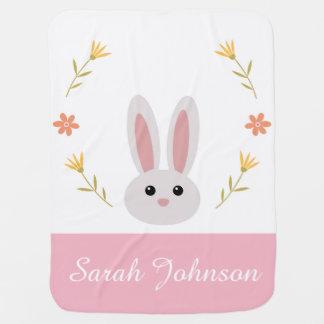 Cute Bunny Baby Blanket