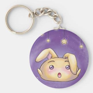 Cute Bunny Blob Keychain
