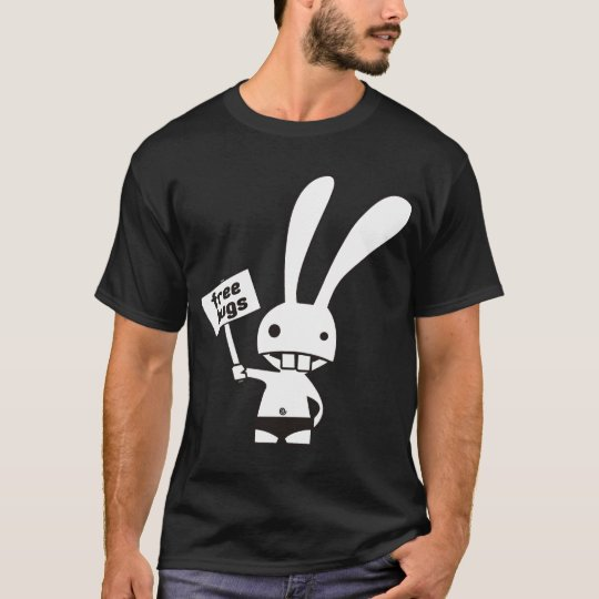 cute bunny double side t-shirt