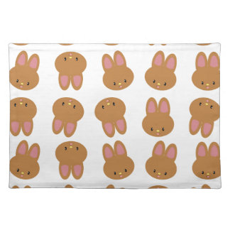 CUTE BUNNY FACE PLACEMAT