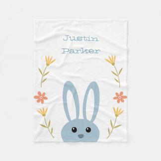 Cute Bunny Fleece Blanket