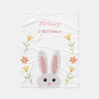 Cute Bunny Fleece Blanket