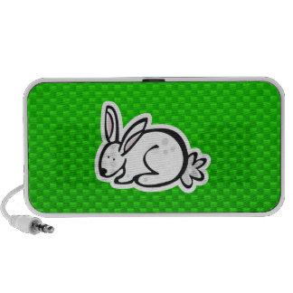 Cute Bunny; Green Mp3 Speakers