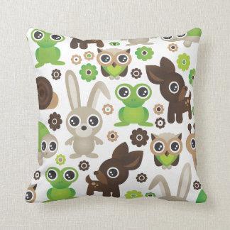Cute bunny owl deer frog turtle pattern cushion