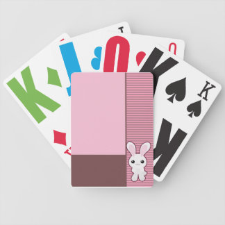 Cute Bunny Pink Cards Bicycle Poker Deck