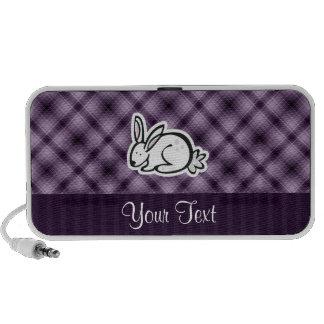 Cute Bunny; Purple iPod Speaker