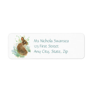Cute Bunny Rabbit Animal Address label