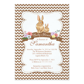 Cute Bunny Rabbit Baby Shower Invitations
