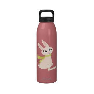 Cute bunny rabbit cartoon kids custom water bottle