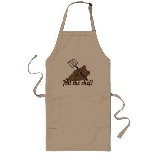 Cute bunny rabbit chef apron, pat the chef! long apron