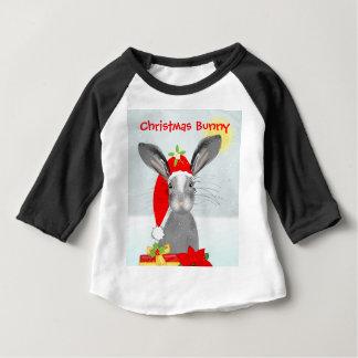 Cute Bunny Rabbit Christmas Holiday Theme Baby T-Shirt