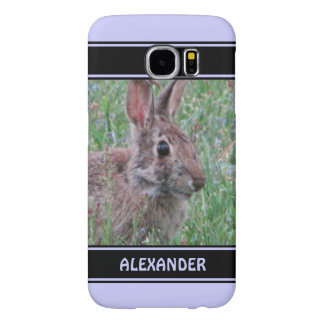 Cute Bunny Rabbit In Wildflowers Animal Lover Samsung Galaxy S6 Cases